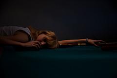 (Artbeat[dot]nu) Tags: pool girl table soft fineart blonde asleep younggirl