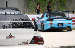 Simply Japanese. (EriPhotography) Tags: singapore drift mitsubishievolution evolutionmr eriphotography mazdarxfd3s
