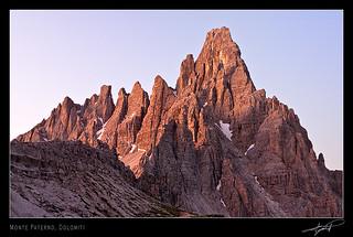 Monte Paterno at sunrise