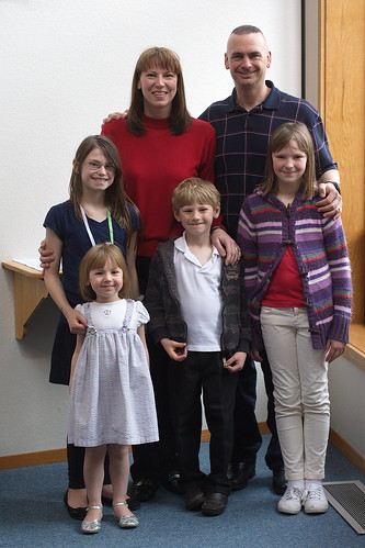 Family portrait at Bethany Lutheran Church by The Bacher Family
