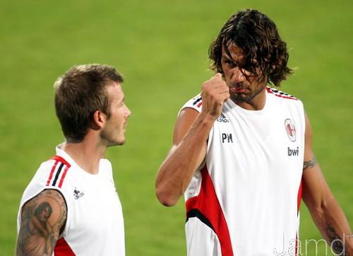 David Beckham & Paolo Maldini
