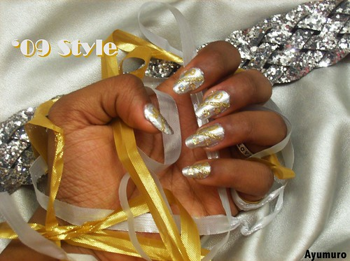 nail Nail designs with glittery gold polish brush and new glittery gold stars. Very cool nail art design. nail art designs gallery
