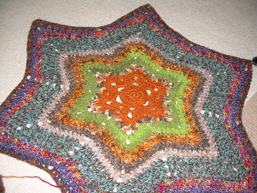 6 point star afghan