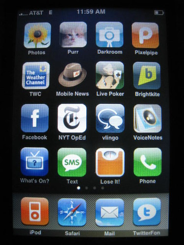 close up of an iPhone screen with apps