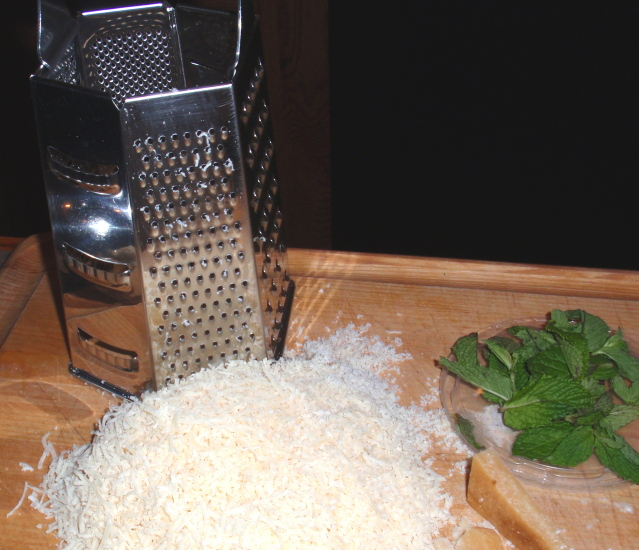 parmesan and mint