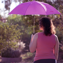 3/52: It's been too long waiting, baby; under a raincloud... (jewelflyt) Tags: morning pink light woman me girl umbrella hair myself square lyrics bokeh sp cropped raincloud macrolens lighthousefamily 52weeks 352 i hppt prettypinktuesday myumbrellaisactuallygreythankgoodnessforphotoshop