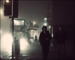 Untitled 73 (Che-burashka) Tags: street mist bus london boys weather fog night walking trafficlight documentary suburbs untitled 89 400d mondocafeclub wellringthebellifwewantyoutostop katianosenkocheburashkajulyportfolio