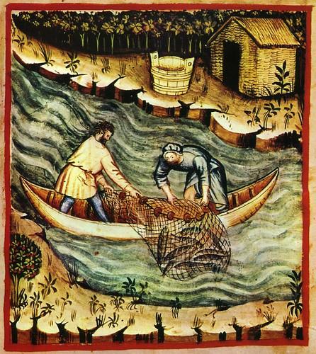 007- Escena de pesca-TACUINUM SANITATIS- Biblioteca Casanetense Ms. 4182