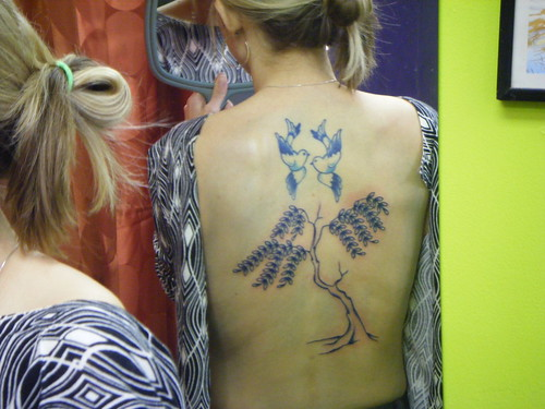 tattoos of doves. Blue willow amp; dove tattoo