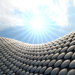 Jan Kaplicky Tribute (Heaven`s Gate (John)) Tags: blue england sun abstract art architecture modern silver circle star birmingham curves creative dramatic sparkle architect selfridges round imagination rays disc 50faves 10faves jankaplicky 25faves johndalkin heavensgatejohn jankaplicytribute 19372009