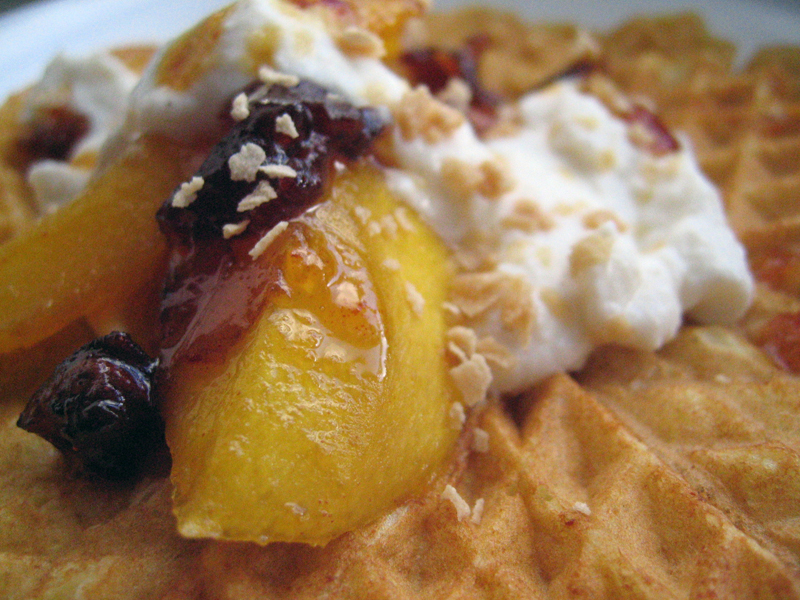 Sugar-grilled Date Mango with Maple Ricotta