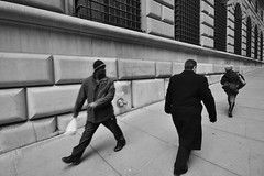 Checking Out (Artem Portnoy) Tags: nyc people bw newyork downtown manhattan streetphotography pedestrians newyorkers checkingout goldstaraward