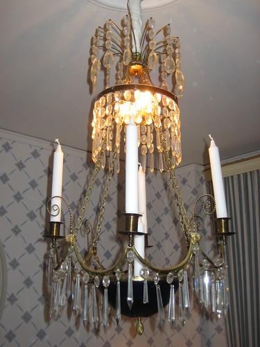 Cut-glass chandelier