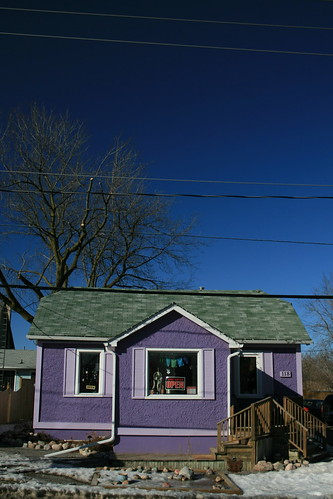 Purple House, Blue Sky, Whitby, Ontario