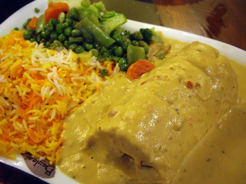 Stuffed Chicken with Cashew Sauce from Bayleaf India Bistro