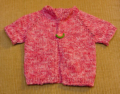 Watermelon Cardi for Baby V