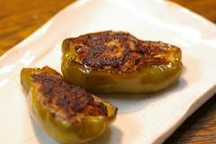 ピーマンの肉詰め~ハバネロ味噌黒酢風味~
