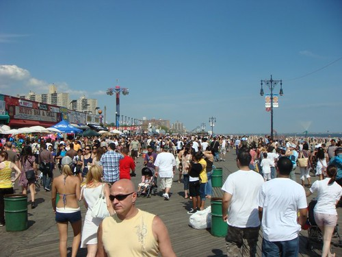 Coney Island boardwalk...