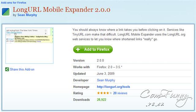 LongURL Mobile Expander 2.0.0