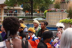 07-18-09 - Naruto Group - Tsunade smiling (RedReplicant) Tags: cosplay maryland baltimore otakon naruto 2009 jiraiya shikamaru tsunade victoriavaldes