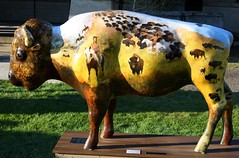 "Part of the ""Where the Painted Buffalo Roam"" exhibit, West Yellowstone, Montana (IMG_1568a) (Alaskan Dude) Tags: travel art buffalo montana wildlife westyellowstone paintedbuffalo wherethepaintedbuffaloroam"