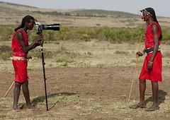 Massai photographer with Hasselblad! Kenya (Eric Lafforgue) Tags: africa camera portrait people face kenya african culture tribal hasselblad human tribes afrika remote tradition massai tribe ethnic masai maasai tribo visage headdress afrique headwear ethnology headgear tribu eastafrica qunia 8183 lafforgue ethnie  qunia    kea    a