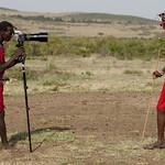 Massai photographer with Hasselblad! Kenya