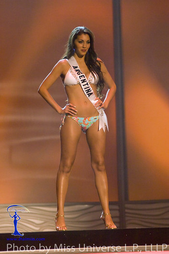 Joy Lasic competes on the ramp in BSC Swimwear