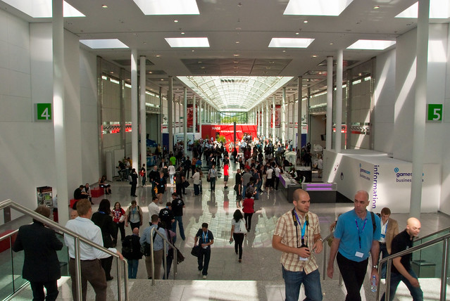Business area at GamesCom