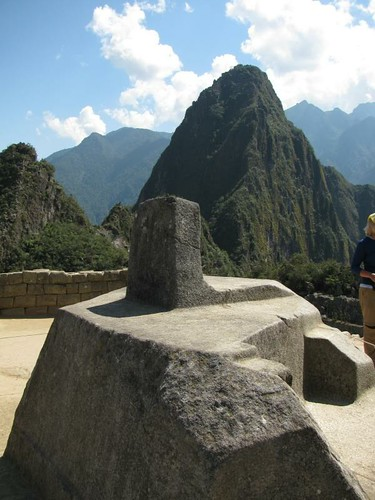 sacrafice stone and Huayna picchu