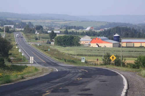 The road to Lac Megantic, Quebec.