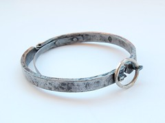 The Cellar Locker Bracelet  (2009, IT) Bracelet 2/B.6 (Blind Spot Jewellery) Tags: silver iron steel jewelry jewellery bracelet metalwork bangle blacksmith cuff forged jewel wrought blindspot blindspotjewellery