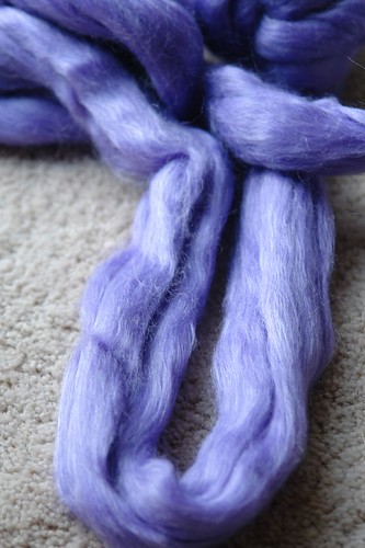 Purple Yarn: Merino and Bamboo