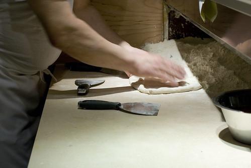 making pizza - dough
