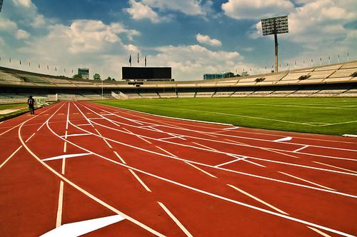 フリー画像| 人工風景| 陸上競技場| オリンピックスタジアム| メキシコ風景|       フリー素材|