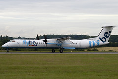 G-ECOM - Flybe British European - De Havilland Canada DHC-8-402Q Dash 8 (DHC-8) - Luton - 090721 - Steven Gray - IMG_8218