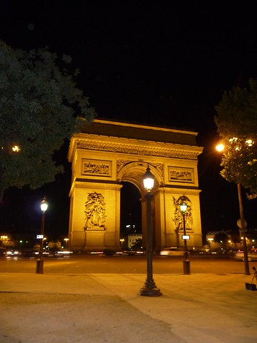 paris arc night