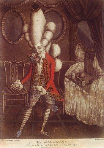 Philip Dawe, 1773, The Macaroni, A real Character at the Late Masquerade