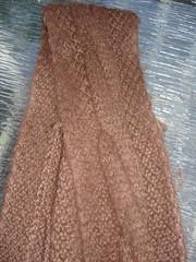 Alpaca cable scarf