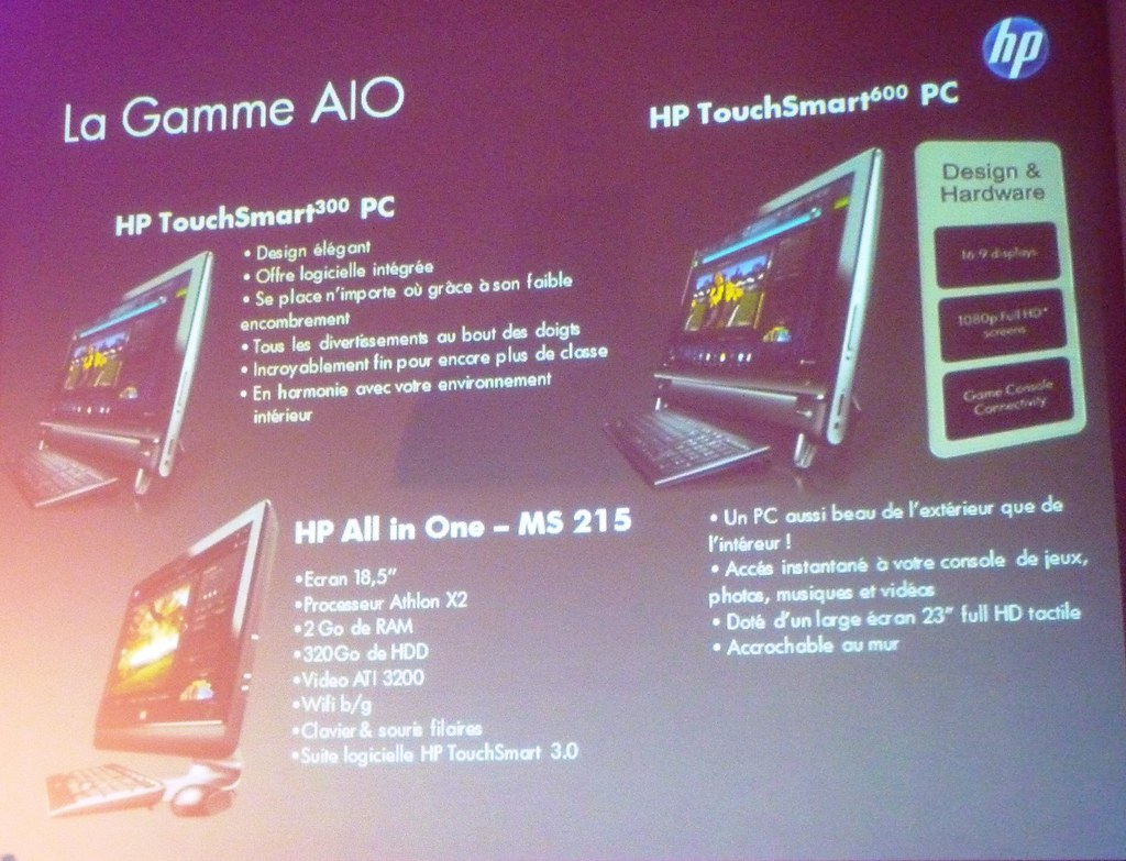 HP Gamme AIO TouchSmart