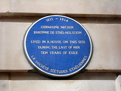 Photo of Germaine Necker blue plaque