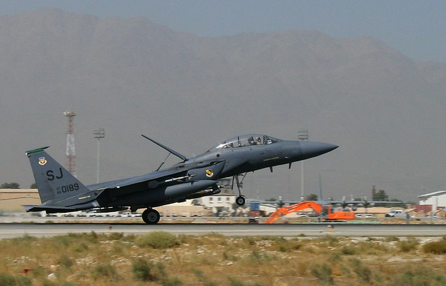 F-15E in Afghanistan. David Axe photo.