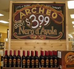 Archeo v.1 (misterbigidea) Tags: red art sign chalk artist wine display joe traderjoes sicily lettering joes chalkboard exclusive vino trader traderjoe sicilian nerodavola ruggeroditasso