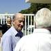 Geoff Sinclair greets Richard Ashton