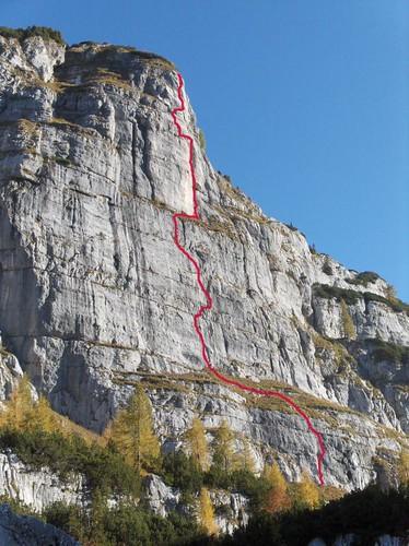 Monte Poviz mit Schwachstromakrobat