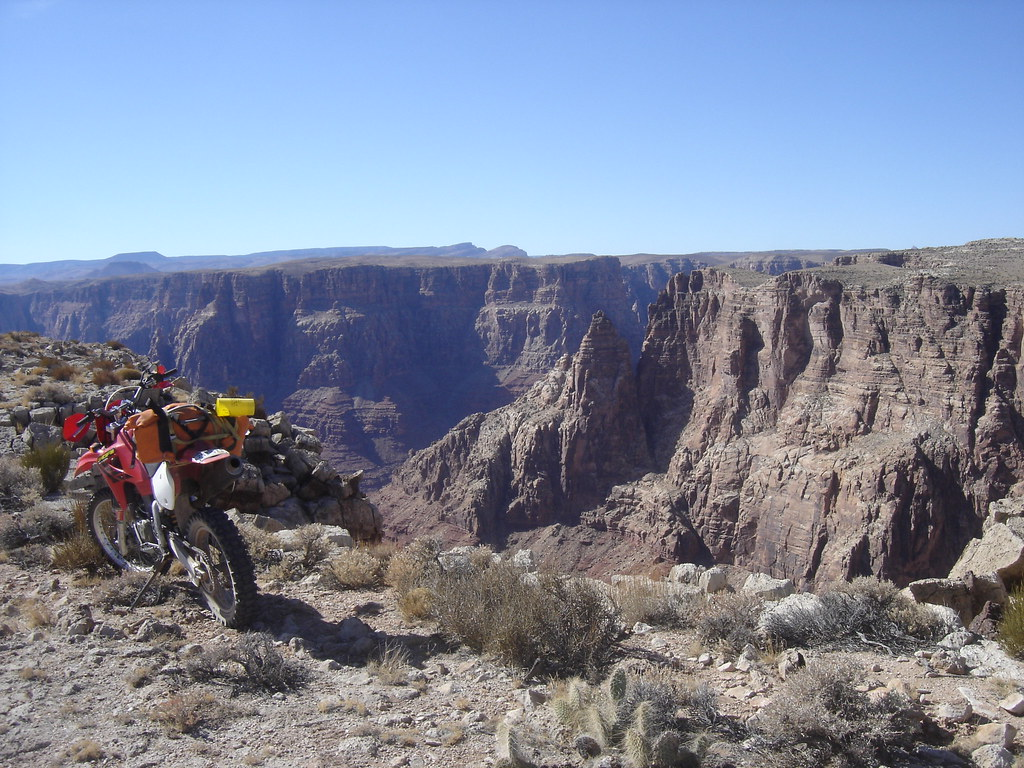 Honda XR650R at the Grand Canyon