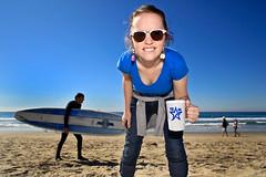 304/365 October 31, 2009 (laurenlemon) Tags: ocean ca blue beach coffee sunglasses sand warm santamonica sunny 365 happyhalloween october09 365days canoneos5dmarkii laurenrandolph laurenlemon idontthinkiveeverhadahalloweenthiswarm ivetrickortreatedwalkingaroundinthesnowbefore