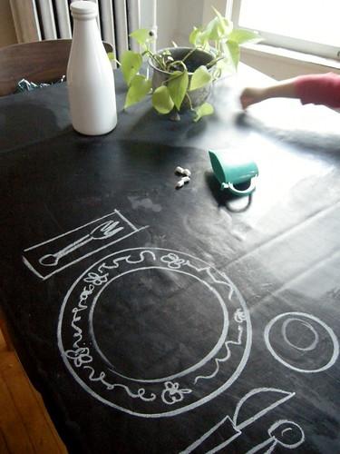 elsie marley » Blog Archive » chalkboard tablecloth