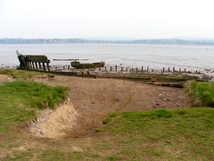 Ship wreck at Double Locks Pub (DJLeekee) Tags: city train river canal cornwall track path tracks railway trains double estuary route devon exeter cycle locks warren pubs turf exmouth dawlish sustrans