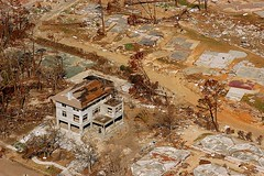 aerial of post-Katrina Pass Christian (by: John Fleck, FEMA)